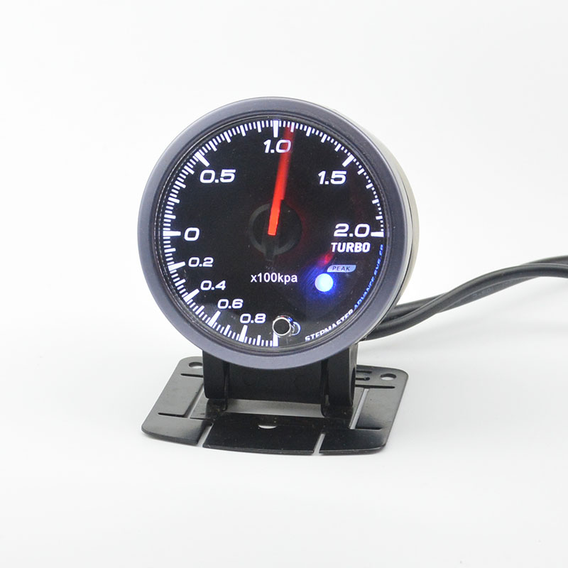 60 mm auto boost gauge turbo warning function Automotive instrument pressure +pods - Confucius store