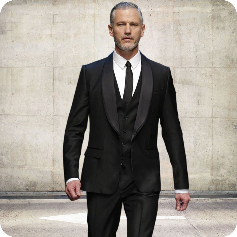 Latest Coat Pant Design Black Men Suits For Wedding Suits Slim Fit Formal Prom Man Blazer Groom Tuxedo Terno Masculino 3Pieces