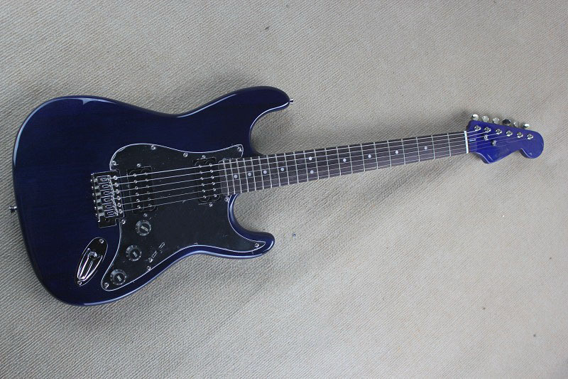 Chinese Factory 2017 Custom new custom STratocaster Natural wood transparent navy Blue Electric Guitar!! Free Shipping 917Chinese Factory 2017 Custom new custom STratocaster Natural wood transparent navy Blue Electric Guitar!! Free Shipping 917