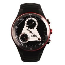 Multi-Función de los hombres 50 M Impermeable Inteligente Profesional H603 Mountaineer Deportes Reloj Con Altímetro Barómetro Brújula Negro