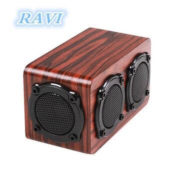 Kingneed Wood Wireless Bluetooth Speaker Subwoofer Family Portable Speaker subwoofer