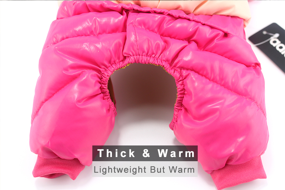 adidog New Winter Pet dog Clothes for Small Medium Dog Pet clothing Coat hoodies Waterproof Super Warm Jacket Snow chihuahua for Winter 314
