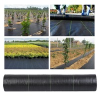 2x50M Heavy Duty PP Wide Weed Barrier Control Fabric Ground Cover Membrane Garden Driveway Landscape Mulch Roll Mat