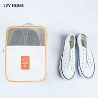 LVV HOME ulti layer waterproof shoe storage pouch/Portable shoes dust bag contrast color travel organization