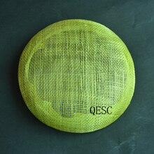 Новинка,, круглая соломенная плетеная тарелка с дисковым блюдцем, круглая основа для аксессуаров для волос, Свадебная женская шляпа