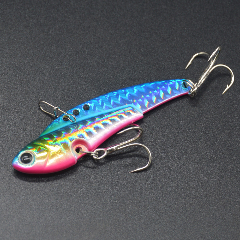 Image 5 - WLDSLURE  4Pcs/Box Metal Vib Lures Fishing VIB Lure 20g Sinking Artificial Vibrator Bass Bait for Ocean Rock fishing-in Fishing Lures from Sports & Entertainment