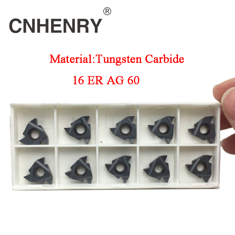цены New Arrival Threading Cutting External Turning Tool 16ER AG60 CNC Carbide Inserts Lathe Cutter Suit For SER Lathe Tool Holder