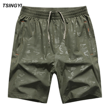 Tsingyi Summer Big Size 6XL 8XL 130kg Camo Men Board Shorts Quick Dry Mens Boardshorts Brevile Pullquin Camouflage Beach