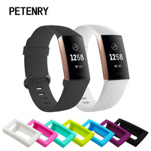 Para Fitbit Carga 3 Caso Colorido Suave Silicone Caso Capa Protetora Shell para Fitbit Carga 3 Banda Acessórios Relógio Inteligente