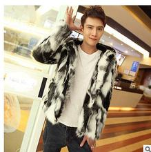 Free Shipping Owmens Short Section Faux Fox Fur Jacket Large Size Patchwork Hooded Winter Autumn Fur Jackets Clothes Outwear C1