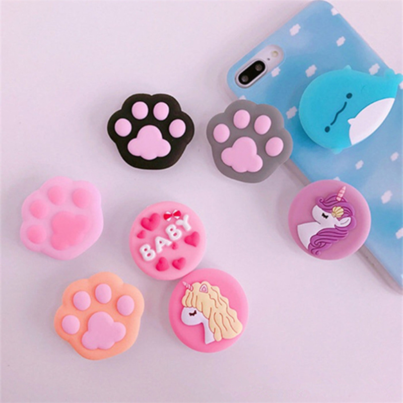 TJHSZKL Bracket Grip Mobile-Phone-Holder Universal Silicone Cartoon Cute for Telescopic