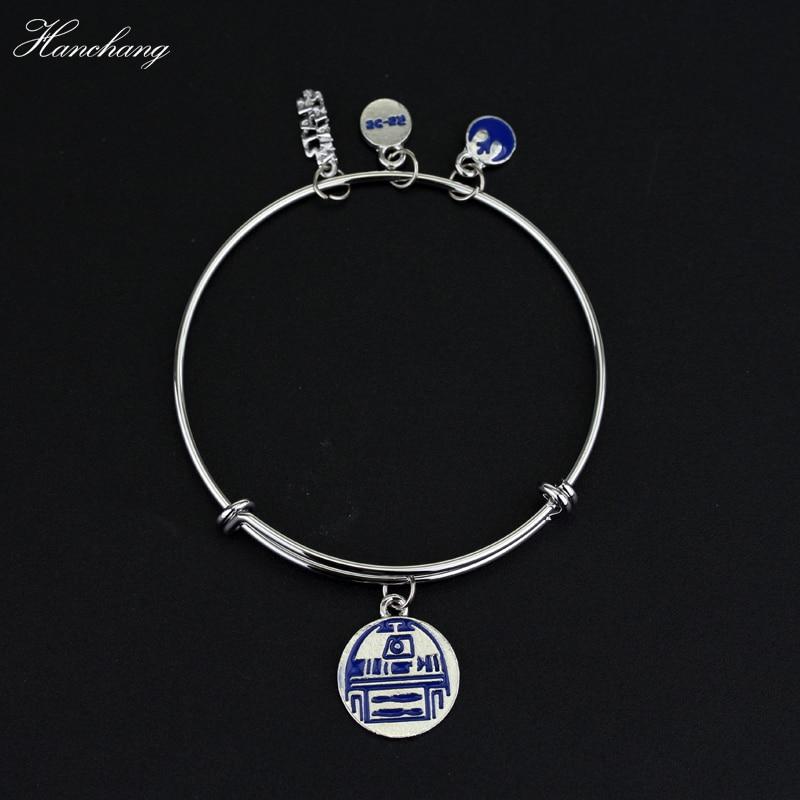 HANCHANG Fashion DIY Wristband Movie Star War Jewelry Charm Bracelet Women Girl Men Bracelet Bangle Adjustable Bangle Party Gift