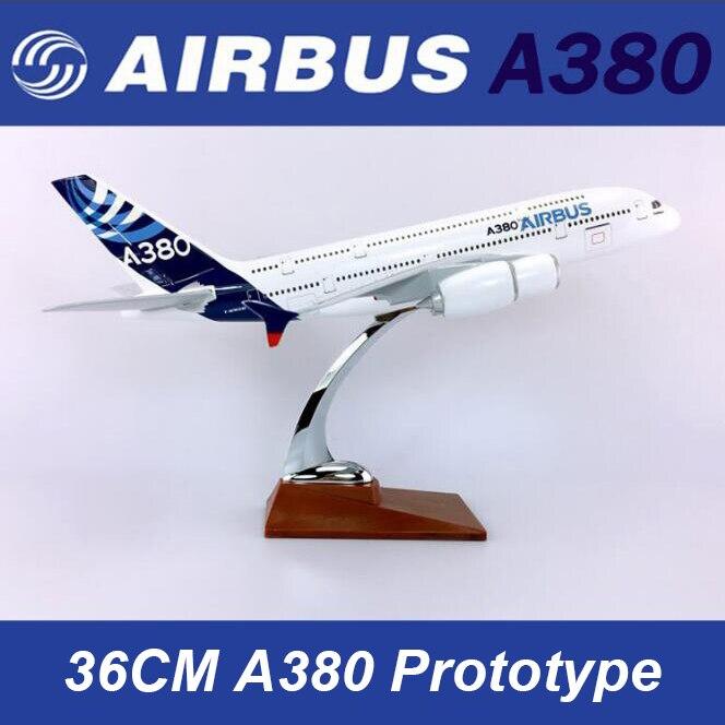 النادرة 35 سنتيمتر نموذج طائرة لعب ايرلندا ايرباص A380 نموذج طائرة دييكاست البلاستيك الطائرة سبيكة الهدايا للأطفال-في سيارات لعبة ومجسمات معدنية من الألعاب والهوايات على  مجموعة 1