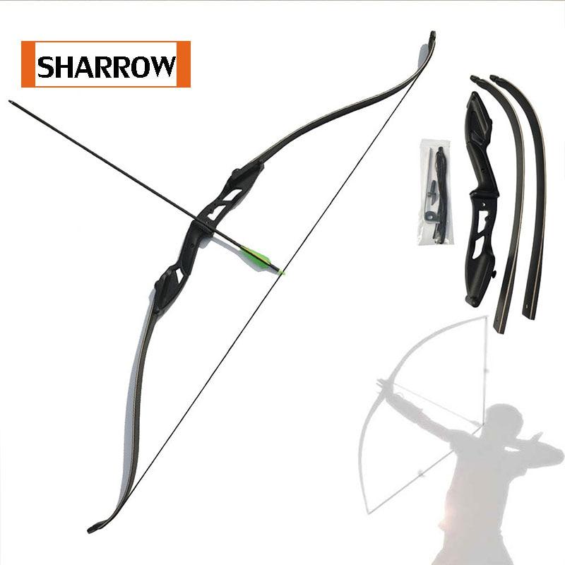 브랜드 새로운 전통 양궁 걸릴 Recurve 보우 오른손 블랙 컬러 선물 Arrow 휴식 30lbs 35lbs 40lbs 45lbs 50lbs