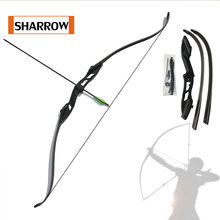 Brand New Traditional Archery Take Down Recurve Bow Right Hand Black Color Gift Arrow Rest 30lbs 35lbs 40lbs 45lbs 50lbs
