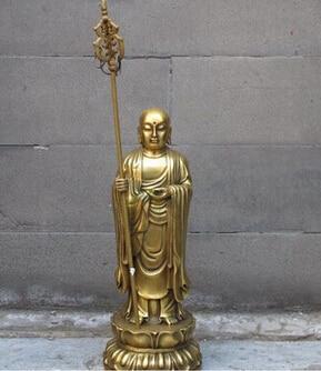 Медь латунь китайский ремесел азиатской budismo Бронзовый Архат kshitigarbha дзидзо Rei бодхисаттвы de Буда