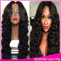 Synthetic Lace Front Wig Long Body Wave Beauty Synthetic Cheap Wavy Wig Lace Front Black Hair Middle Part Style For Black Women
