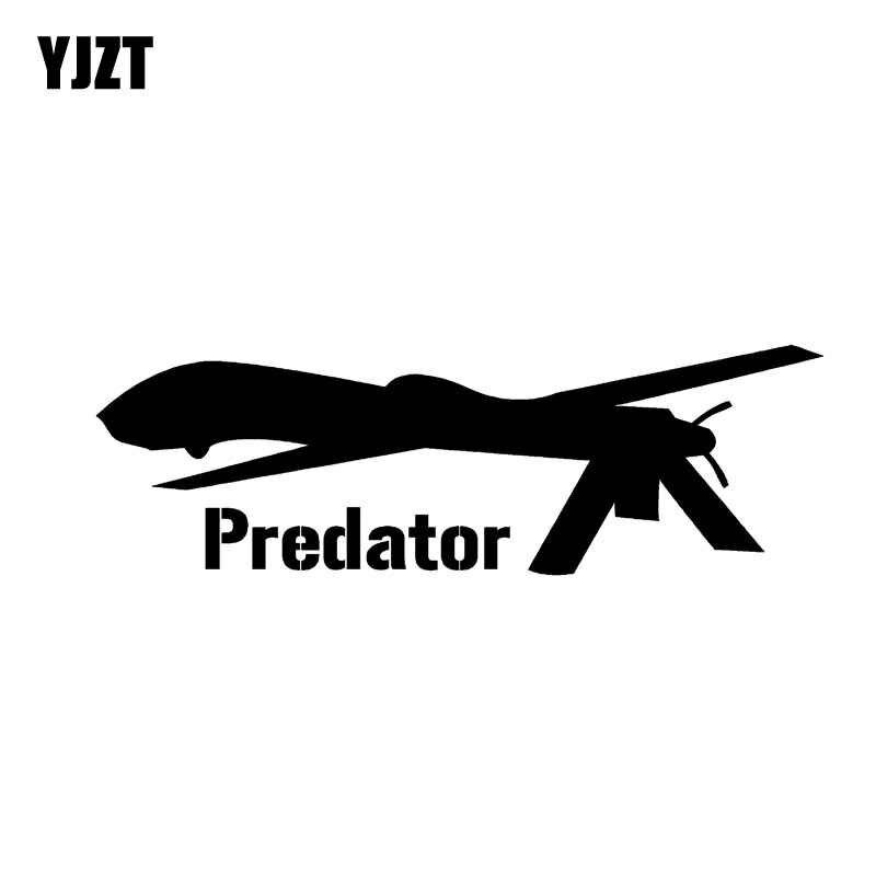 YJZT 13 CM * 4,2 CM vinilo calcomanía General Atomic Predator Drone UAV coche pegatina negro/plata C3-0151