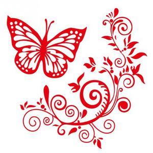 Для автомобильного стайлинга светоотражающий Водонепроницаемая декоративная наклейка для автомобиля с изображением бабочки и цветка