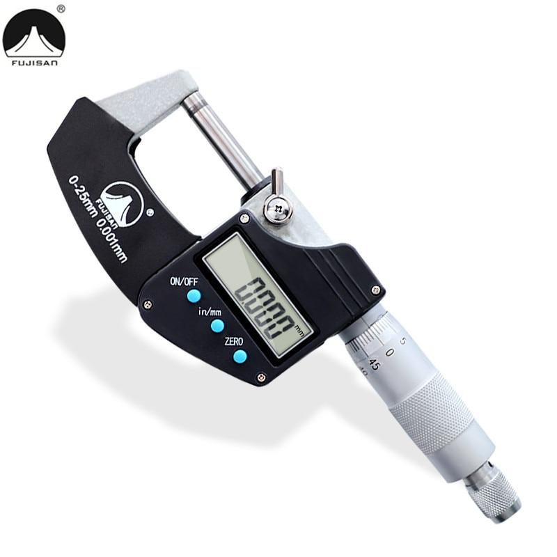 электронные микрометры 0 25 мм - FUJISAN Digital Micrometer 0-25mm 0.001mm Metric/Inch Electronic Gauge Outside Micrometro Carbide Tip