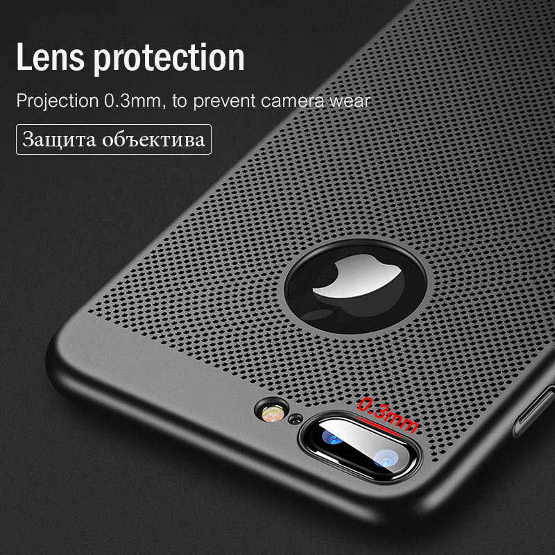 Ultra Slanke Telefoon Case Voor iPhone 6 6 s 7 8 Plus Hollow Warmteafvoer Gevallen Hard PC Voor iPhone 5 5 S SE Back Cover Coque X S MAX