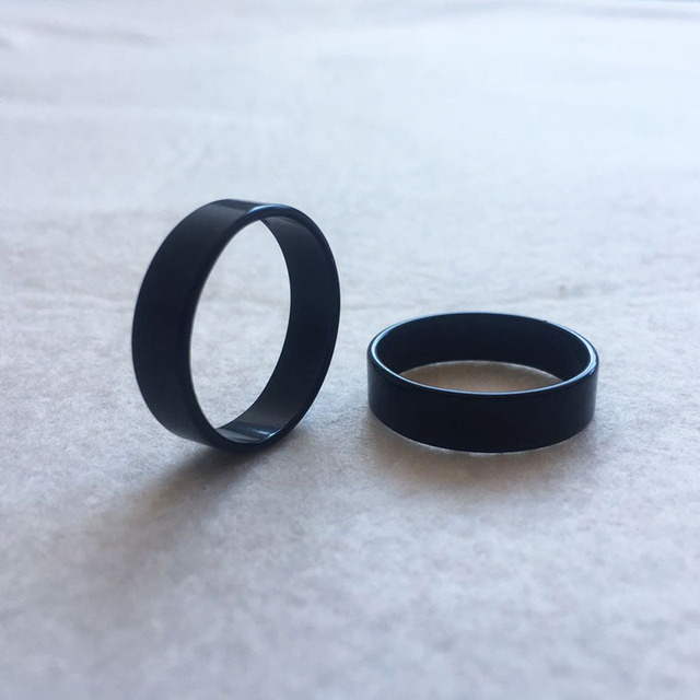 Titanium Steel Simple Rings Women Men Fashion Pure Black Ring for Female Male 6 7 8 9 10 Circlet Hot Sale SP099