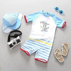 Image 3 - 1 3T ملابس سباحة للأطفال قطعة واحدة الرضع طفل الفتيان ملابس السباحة الكرتون الوليد الاطفال الاستحمام دعوى الشمس المحمية الأطفال الشاطئ بركة ارتداء