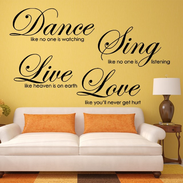 Dance Like No One Is Watching Inspirational Vinyl Quotes Wall Decals ...