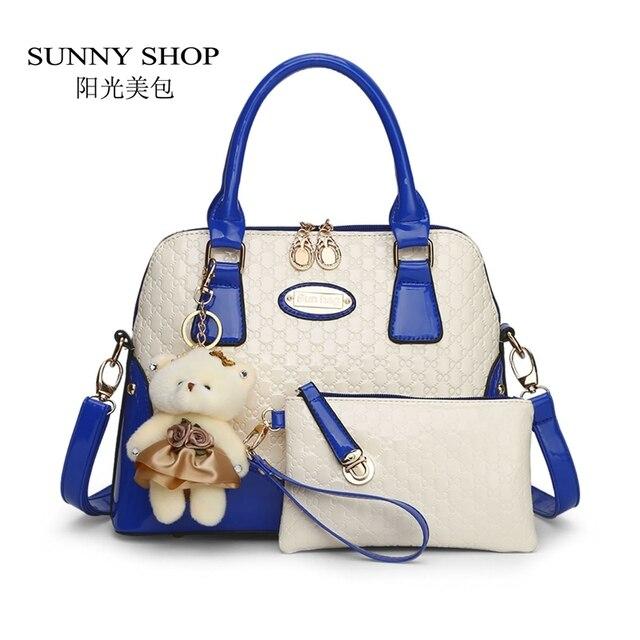 SUNNY SHOP Casual Embossed Brand Designer Handbags Socialite Women  Messenger Bags Fashion Shoulder Bag 2 bags e03ccae75e608