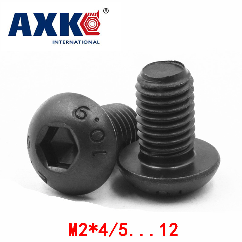 2018 Real Hot Sale Screws For Laptops Wood Screws Axk 10.9 High Strength Round Head Hexagon Mushroom Screw M2*4/5...12 Iso7380 300pcs set m2 m2 5 m3 iso7380 kit 304 stainless steel a2 round head screws mushroom hexagon socket button head screw kit hw016