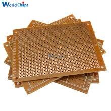 Circuit imprimé universel, 50x70mm, 2.54mm, 10 pièces, panneau simple face, pour bricolage