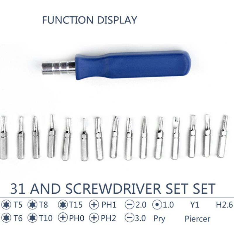 Multi function Screwdriver Set With 16pcs Precision Magnetic Screwdriver Bits for SmartPhones Computers Notebooks Repairing Repa in Hand Tool Sets from Tools