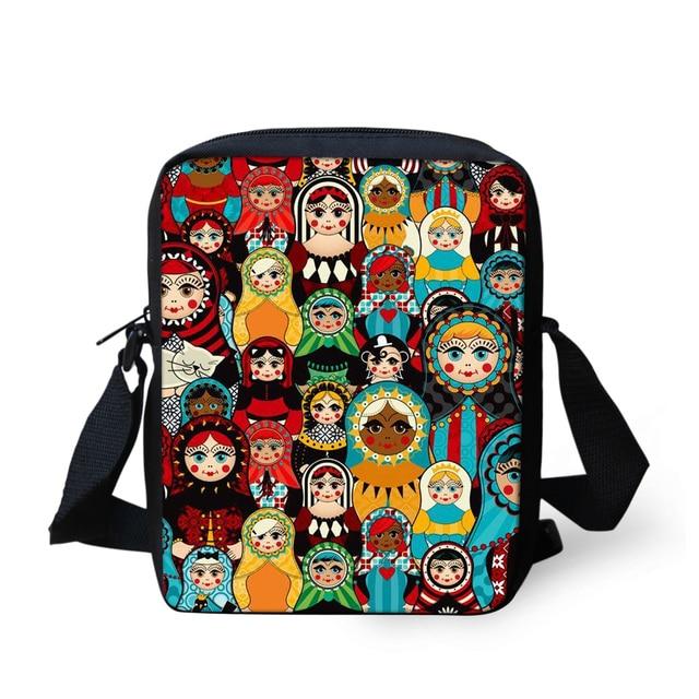 32d487815c8d FORUDESIGNS Handbags Russian Matryoshka Dolls Women Messenger Bags for Girls  Flap Small Crossbody Bag Sling Chain