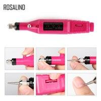 ROSALIND 1 компл. электрическая машинка для маникюра Набор для машины Электрический дизайн ногтей ручка педикюр дизайн ногтей инструменты для м...