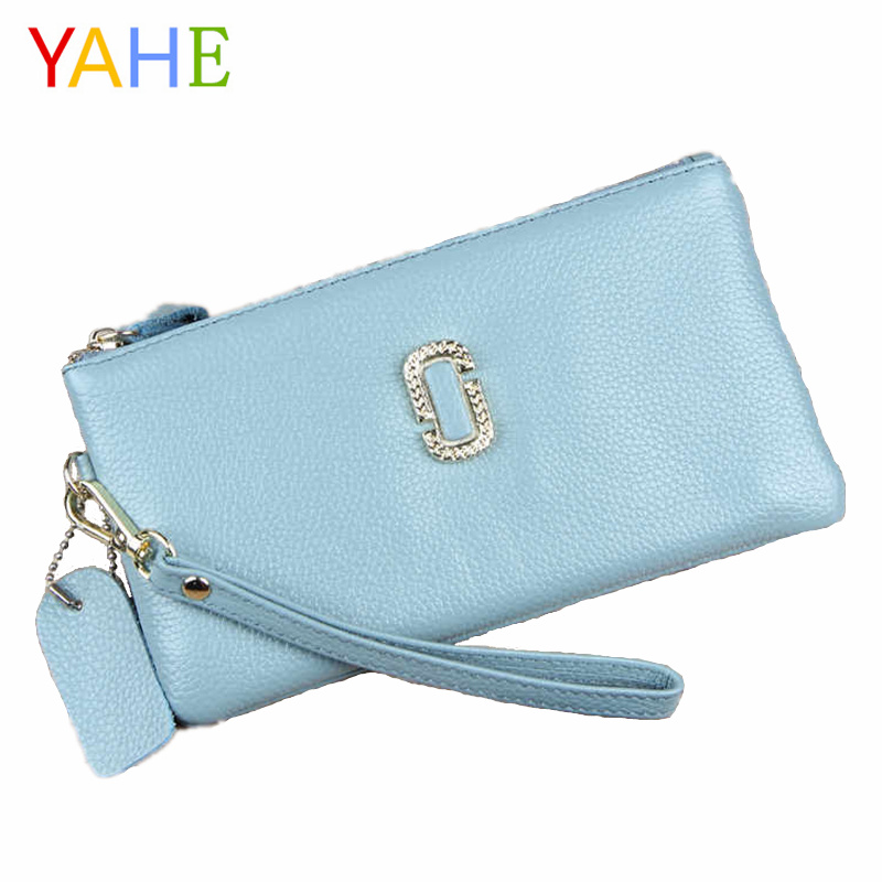 YaHe 2018 Hot Clutch Wallets for Women Designer Ladies Ultra Slim Wallets Woman Coin Card Money Phone Bags Clutch Pouch for Lady
