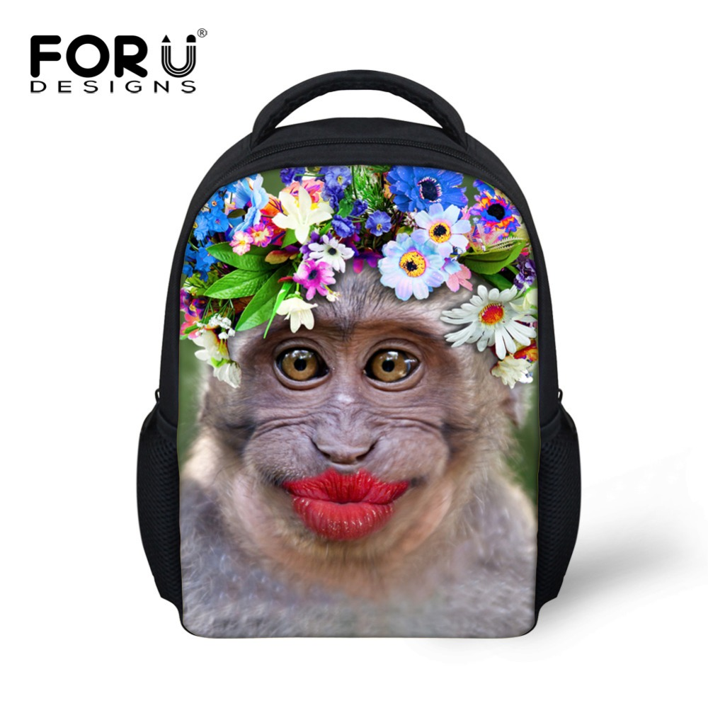FORUDESIGNS Children School Bag Funny Red Lips Pattern Kids Book Bag For Baby Girls Boys ...