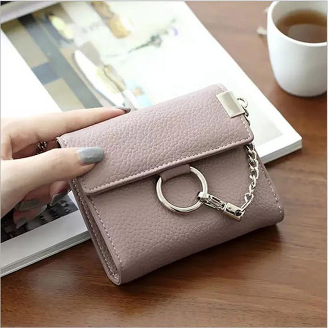 b3f7e091313 On Sale Womens small wallet dollar price designer Circle Clutch Short Purse  Wallets Card Holder women Bag Wallet Women Lucky