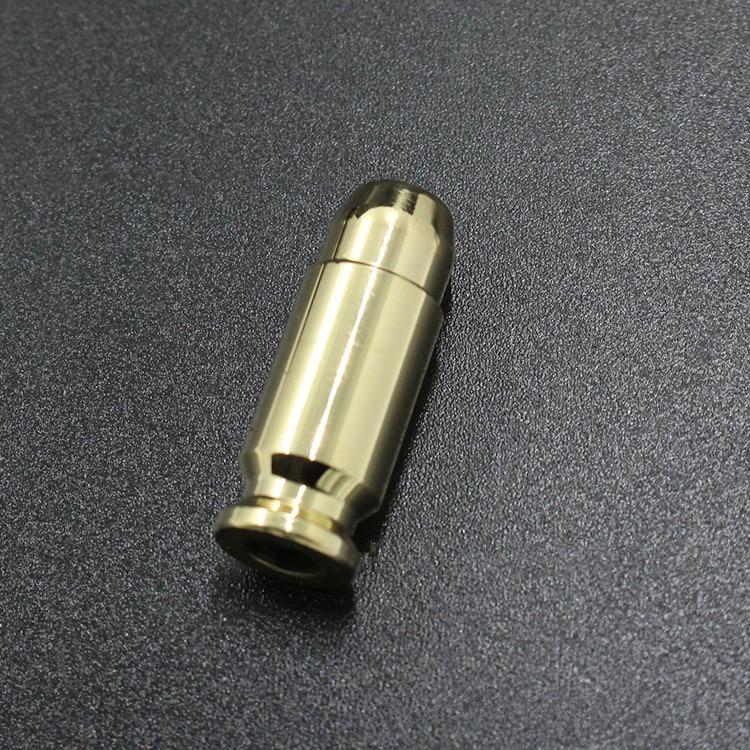Brass Bullet Shell Pendant Pure Copper Bullet-shaped Knife DIY Flashlight Pendant ECD Um ...