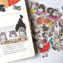 account hobo/tn hand Cute girl daily life photo stickers DIY material