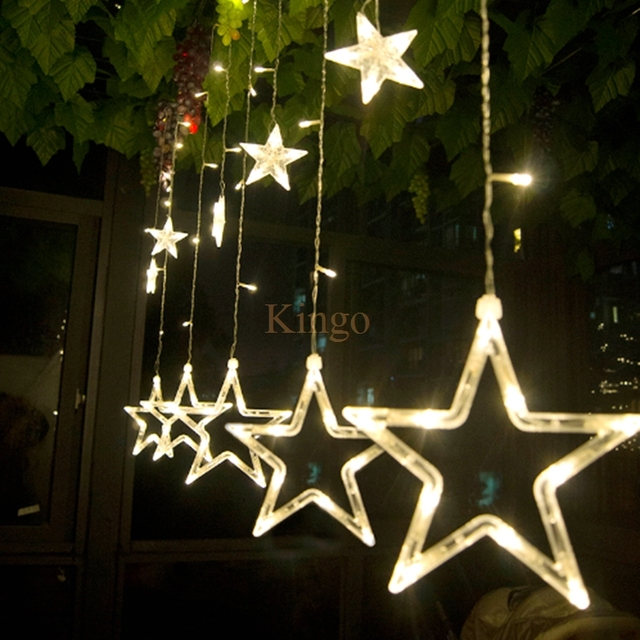 NEW 2M 138 LEDS Curtain Lighting Decorative Wedding Star String Fairy Light Garlands  Home Outdoor Holiday