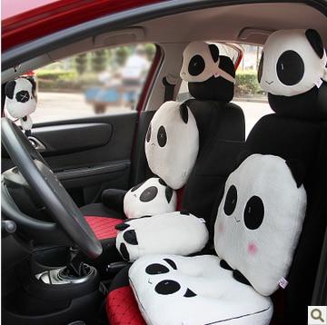 1pcs Car Headrest Cushion Neck Pillow Cartoon Cute Lovely Panda Pattern Seat Head