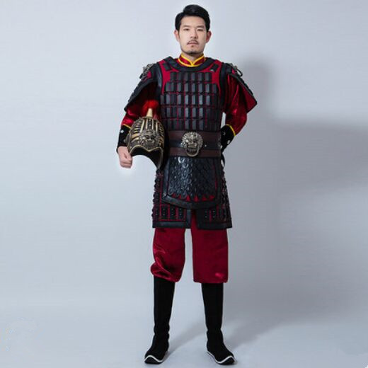 movie TV historical general armor outfit chinese ancient soldier costumes men's warrior uniform for photo studio halloween party image