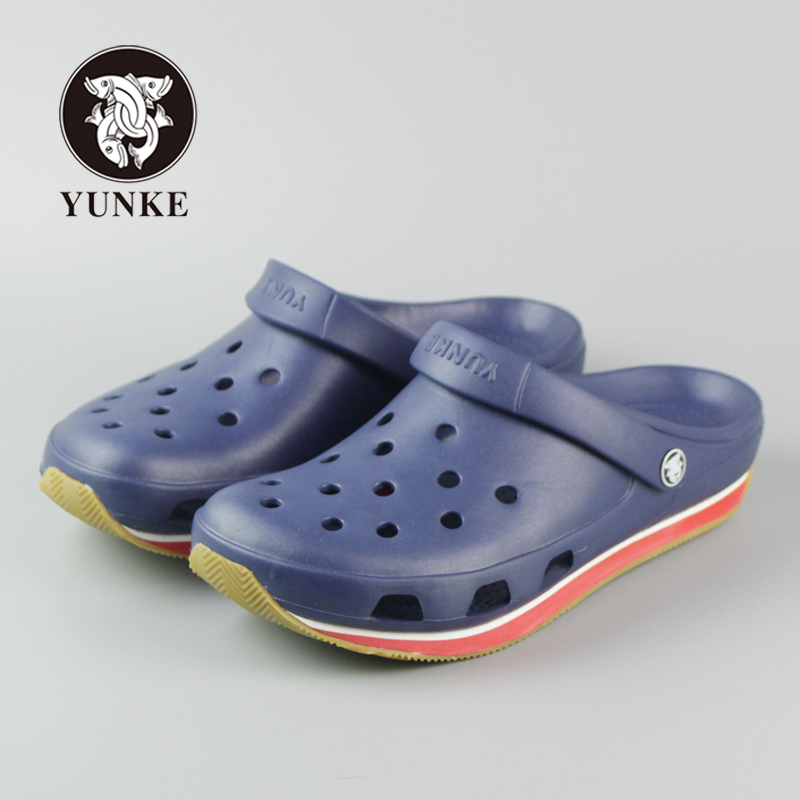 2016 Summer Mens Clogs Beach Slippers For Men Garden Shoes Mule Clogs Fashion Candy Color Adult Mens Clog Clogs EVA Materials