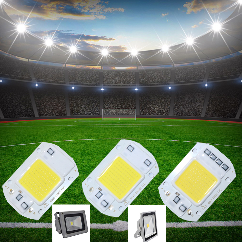 Smart IC LED Matrix For Projectors 20W 30W 50W 110V 220V DIY Flood Light COB LED