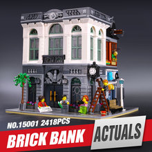LEPIN 15001  Creator Brick Bank Model Building Kits Minifigure Blocks action figure bricks baby children  10251 toys legoe