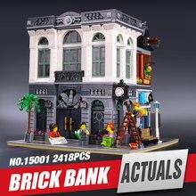 LEPIN 15001 Creator Brick Bank Model Building Kits Minifigure Blocks action figure bricks baby children 10251
