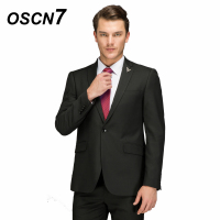 OSCN7 Black Wool Tailor Made Suits Business Event Customize Mens Suits Plus Size Casual 2PCS Terno Masculino 198 2C11Z
