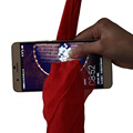 2017 New Magic Tricks Dynamo Scarf Through Phone Close Up Magie Funny Silk Thru Phone Trick Toys for Magicians