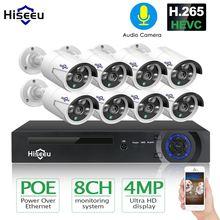 Камера видеонаблюдения hiseeu h265 наружная Водонепроницаемая