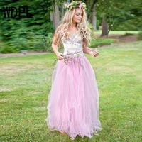 Romantic Pink Puffy Tulle Skirts For Bridesmaid To Formal Party Custom Made Tutu Skirt For Lady Maxi Skirt Custom Made